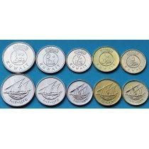Кувейт набор 5 монет 2012-2013 год.