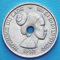 Лаос 10 центов 1952 год.
