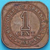 Малайя 1 цент 1941 год.