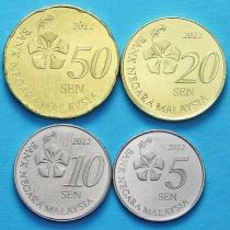 Малайзия набор 4 монеты 2012 год.