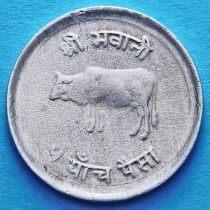 Непал 5 пайс 1971-1982 год. Корова.
