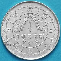 Непал 50 пайс 1940 год. VS1997. Серебро. №1