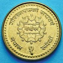 """Непал 1 рупия 2000 год. 100 лет газете """"Gorkhapatra"""""""