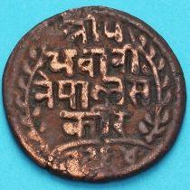 Непал 1 пайс 1907 год. VS1964 - १९६४