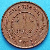 Непал 2 пайса 1940-1941 год.