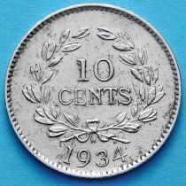 Саравак 10 центов 1934 год.