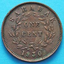 Саравак 1 цент 1930 год. №7