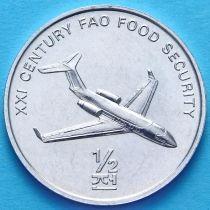 Северная Корея 1/2 чона 2002 год. ФАО, самолет