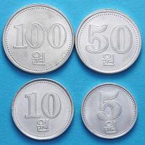 Северная Корея набор 4 монеты 2005 год.