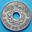 Монета Сирии 1 пиастр 1929 год.