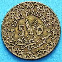 Сирия 5 пиастров 1933 год.