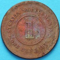 Стрейтс-Сетлментс 1 цент 1874 год.