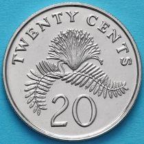 Сингапур 20 центов 1992-2012 год.