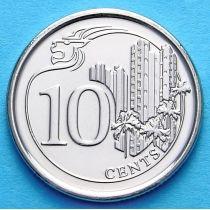 Сингапур 10 центов 2013 г.