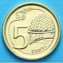 Сингапур 5 центов 2015 г.