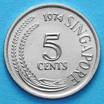 Сингапур 5 центов 1974 год. Белая цапля.