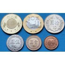 Тайвань набор 6 монет 1988-2013 год.