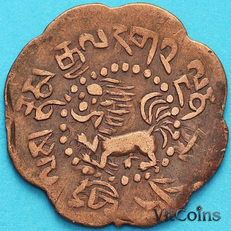 Монета Тибет 7 1/2 скар 1921 год.