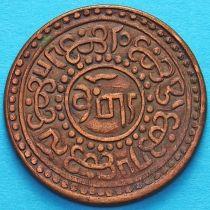 Тибет 1 шо 1920 год. Горизонтальная надпись на реверсе.