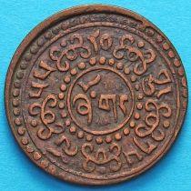 Тибет 1 шо 1921 год. Горизонтальная надпись на реверсе.
