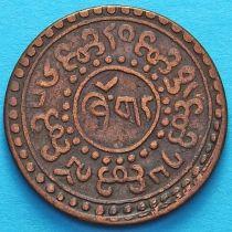 Тибет 1 шо 1922 год. Горизонтальная надпись на реверсе.