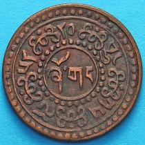 Тибет 1 шо 1924 год. Горизонтальная надпись на реверсе.
