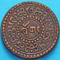 Тибет 1 шо 1925 год. Горизонтальная надпись на реверсе.
