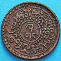 Тибет 1 шо 1926 год. Вертикальная надпись.
