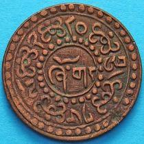 Тибет 1 шо 1928 год. Горизонтальная надпись на реверсе.