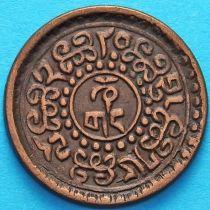 Тибет 1 шо 1928 год. Вертикальная надпись.