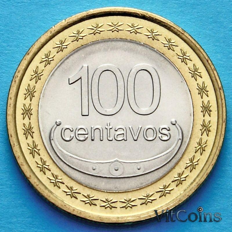 Монета Восточного Тимора 100 сентаво 2012 год.