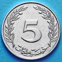 Тунис 5 миллим 1997 год.