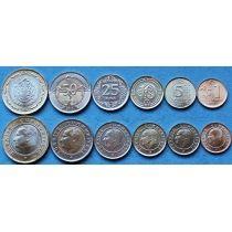 Турция набор 6 монет 2011-2013 год.