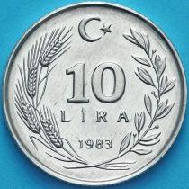 Турция 10 лир 1983 год.