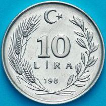 Турция 10 лир 1985 год.