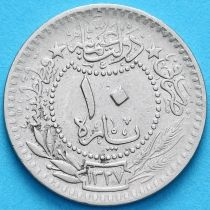 "Турция, Османская империя 10 пара 1909 год. На аверсе под тугрой цифра ""٥"" (5)"