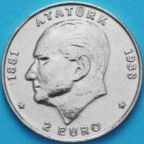 Турция 500000 лир 1998 год. 2 Евро