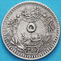 Турция, Османская империя 5 пара 1909 год.