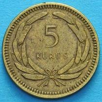 Турция 5 курушей 1950-1956 год.