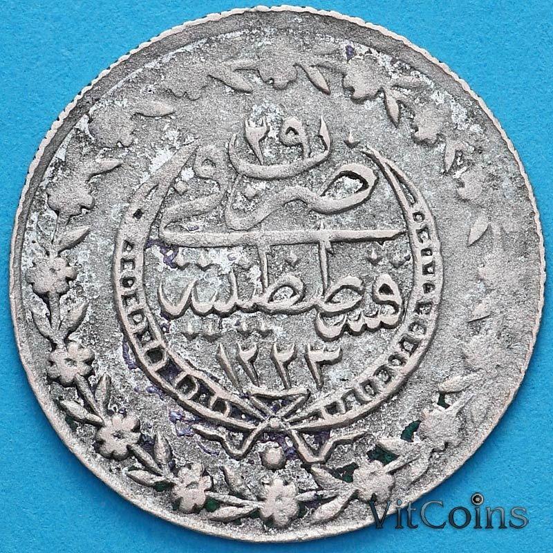 "Монета Турция, Османская империя 20 пара 1808 год.  Серебро. ""٢٩"" (29)"