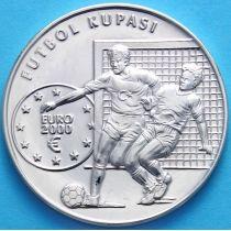 Турция 7500000 лир 2000 г. Футбол. Серебро