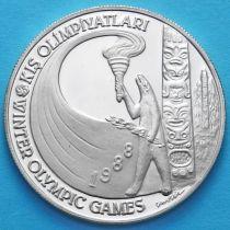 Турция 10000 лир 1988 год. Олимпиада в Калгари. Серебро