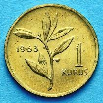 Турция 1 куруш 1961-1963 год.