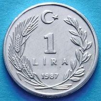 Турция 1 лира 1987 год.