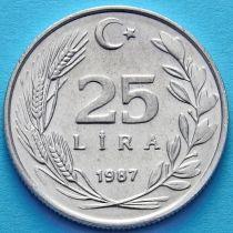 Турция 25 лир 1986 - 1988 год.