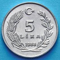 Турция 5 лир 1986 - 1988 год.