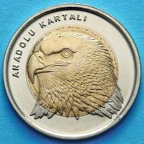 Турция 1 лира 2014 год. Анатолийский орёл.