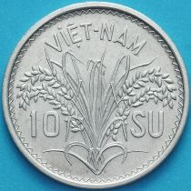 Вьетнам Южный 10 су 1953 год.
