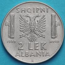 Албания 2 лека 1939 год. Магнитная.