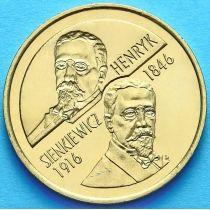 2 злотых Польша 1996 год. Генрик Сенкевич